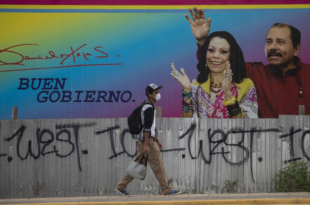 A billboard in Managua shows Nicaragua's president, Daniel Ortega, and his wife, Rosario Murillo, the vice president. Ortega reclaimed the presidency in 2007 and has held it since; his family controls much of the country's media.INTI OCÓN/NYT